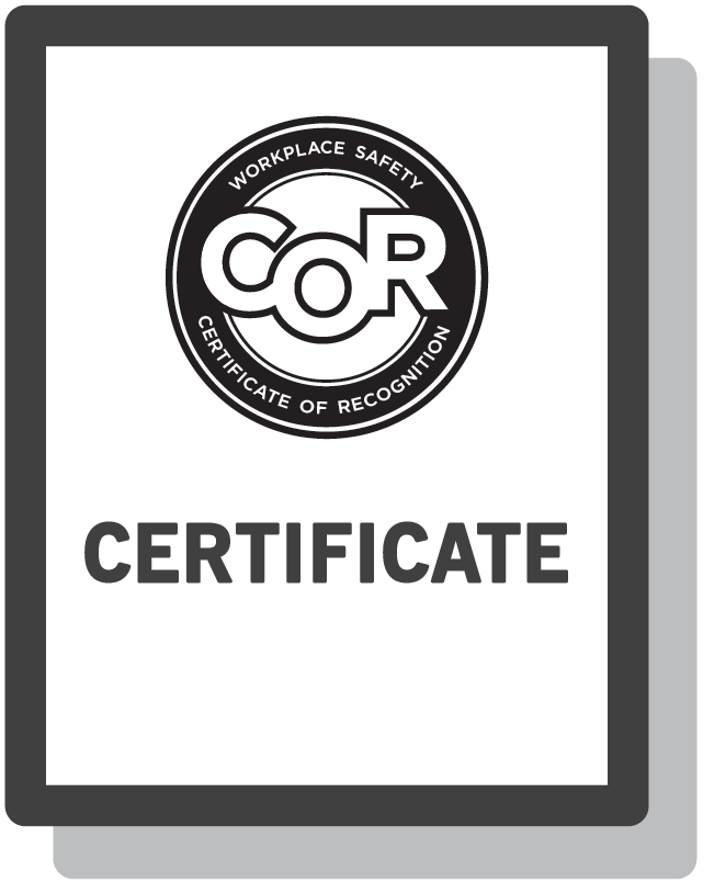 COR Certificate of Recognition